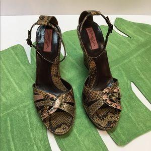 Exciting Reptile Design Heels by VIA SPIGA.